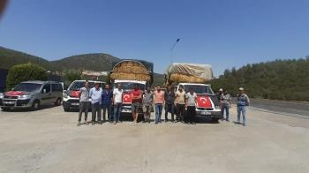 Kızılcabölük Halkından Yangınzedelere Yardım
